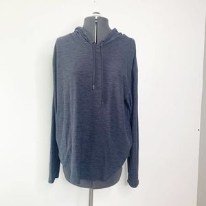 Old Navy Active Blue Black Spacedye Breathe On Hoodie Women's Size Large L